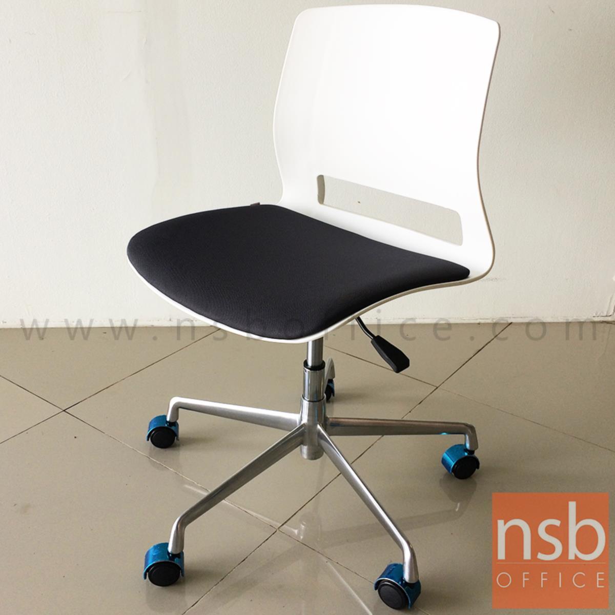 เก้าอี้สำนักงานโพลี่  รุ่น greenwell (กรีนเวล)  โช๊คแก๊ส ขาอลูมิเนียม