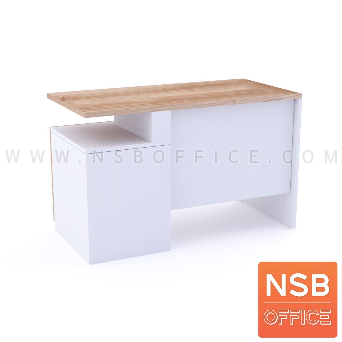 โต๊ะคอมพิวเตอร์ 2 ลิ้นชัก รุ่น Bamford (แบมฟอร์ด) ขนาด 120W ,135W ,150W ,160W cm.  พร้อมรางคีย์บอร์ด เมลามีน