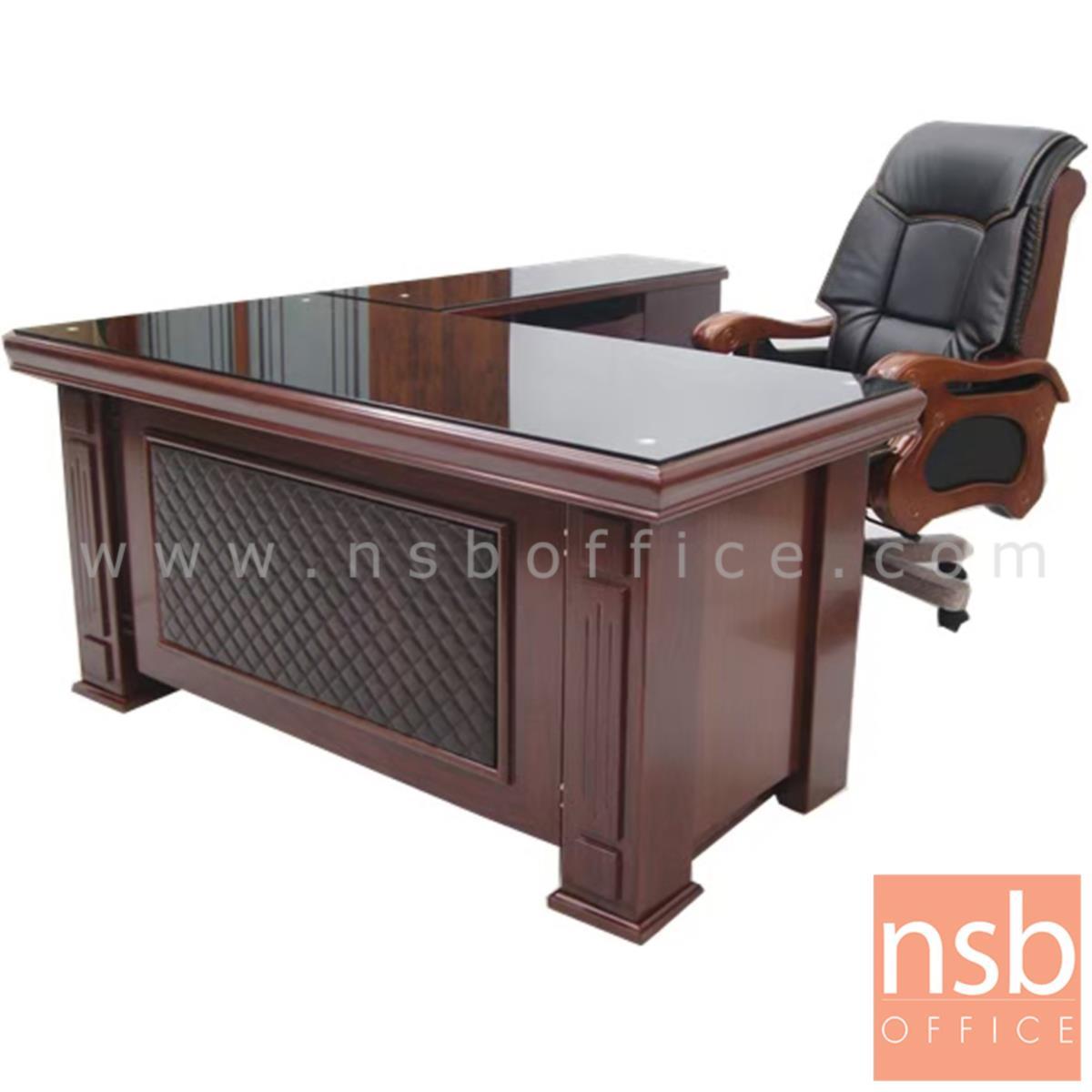 A06A134:โต๊ะผู้บริหารตัวแอล รุ่น URSULAR ขนาด 160W ,180W cm.