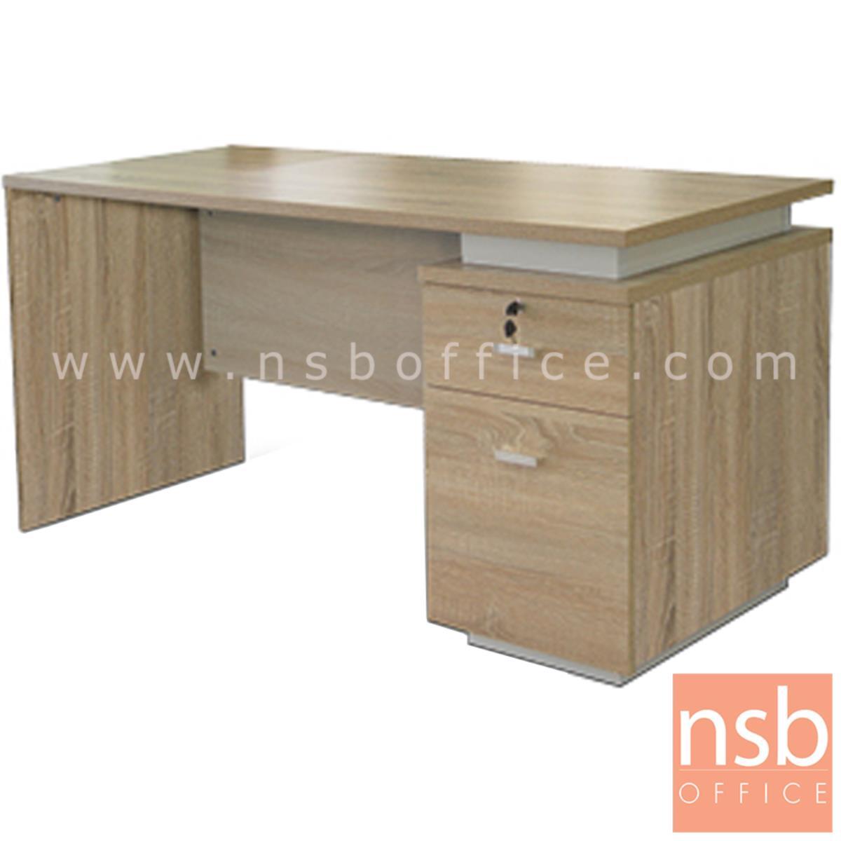 A13A182:โต๊ะทำงาน 1 ลิ้นชัก 1 บานเปิด  รุ่น D-CP ขนาด 150W cm. เมลามีน