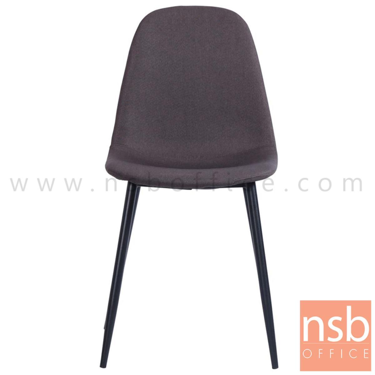 เก้าอี้โมเดิร์นหุ้มผ้า รุ่น Jerome (เจอโรม)  ขาเหล็กพ่นดำ