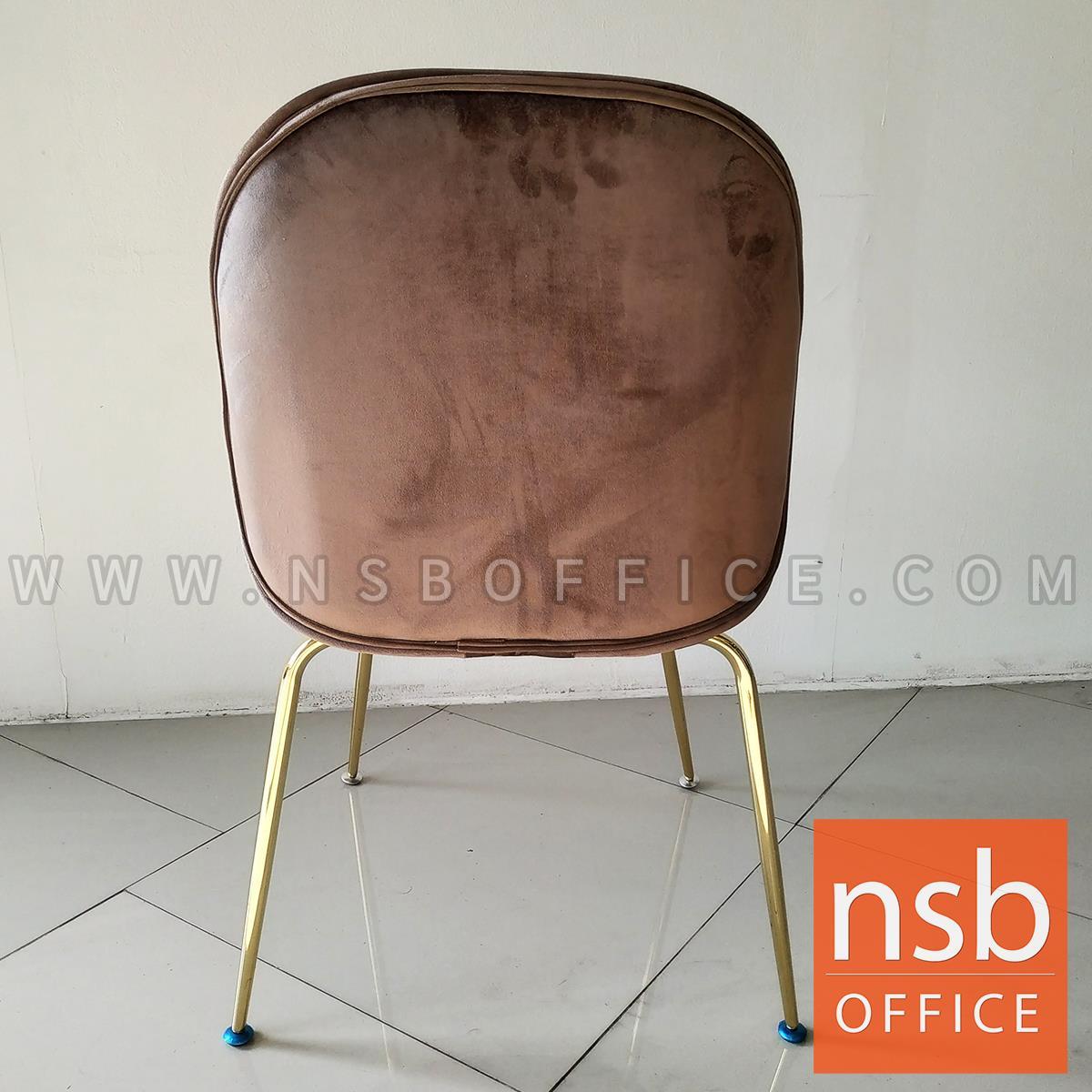 เก้าอี้โมเดิร์น หุ้มผ้ากำมะหยี่ รุ่น Bourne (บอน)  ขาเหล็กสีทอง