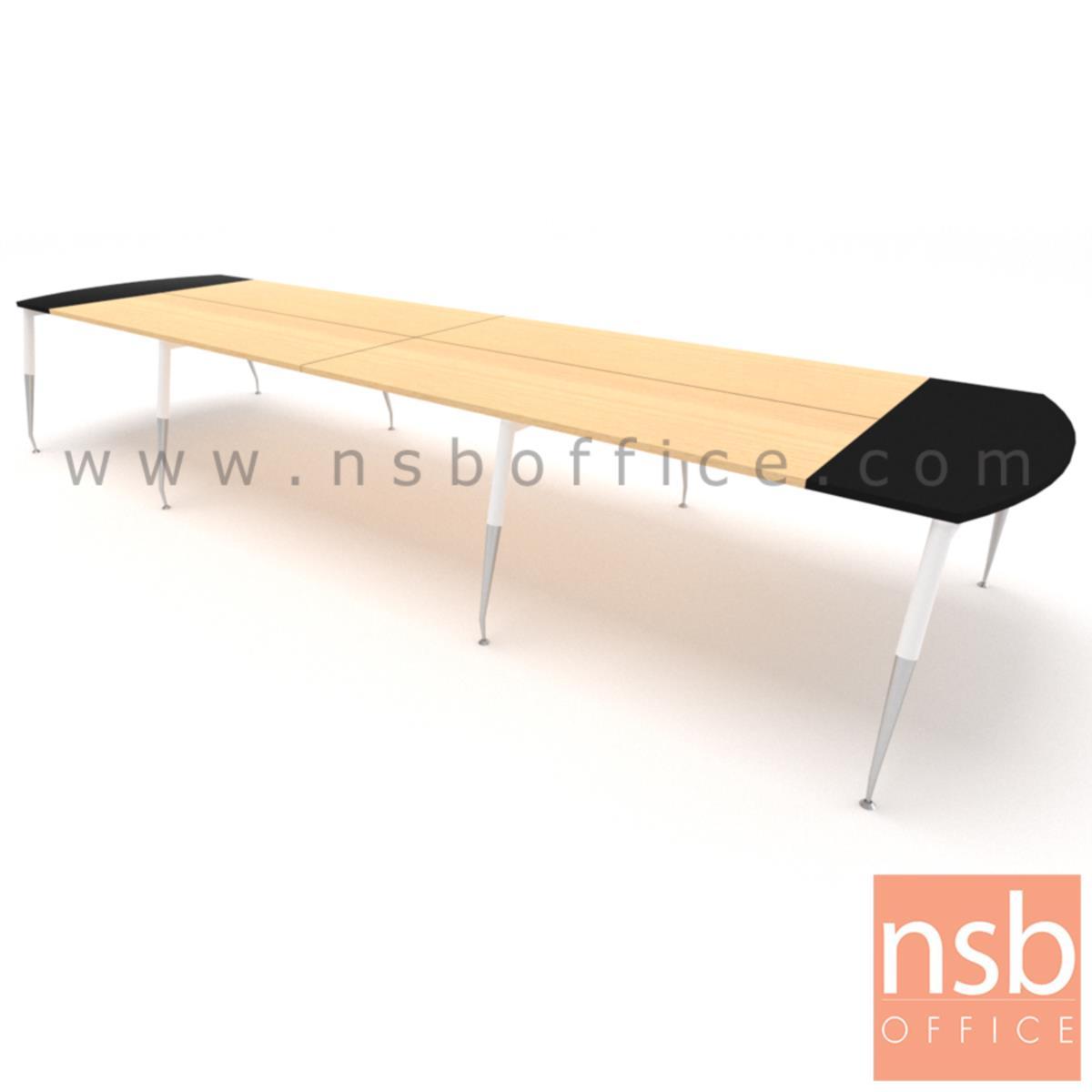 โต๊ะประชุมหัวโค้ง ขาปลายเรียว ลึก 150 cm.