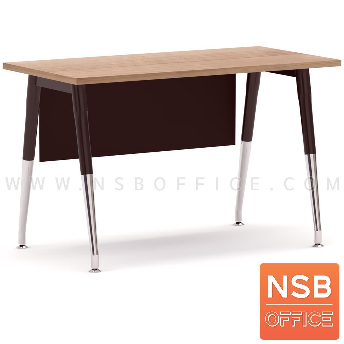 A18A060:โต๊ะทำงาน บังโป๊ไม้  รุ่น Taper  ขาเหล็กวีคว่ำทำสี ปลายเรียว