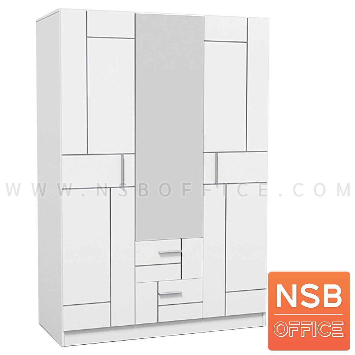 G12A282:ตู้เสื้อผ้าไม้ 3 บานเปิด 2 ลิ้นชัก รุ่น Honeyjam (ฮันนี่แจม) ขนาด 136W*60D *200H cm. มีบานกระจก