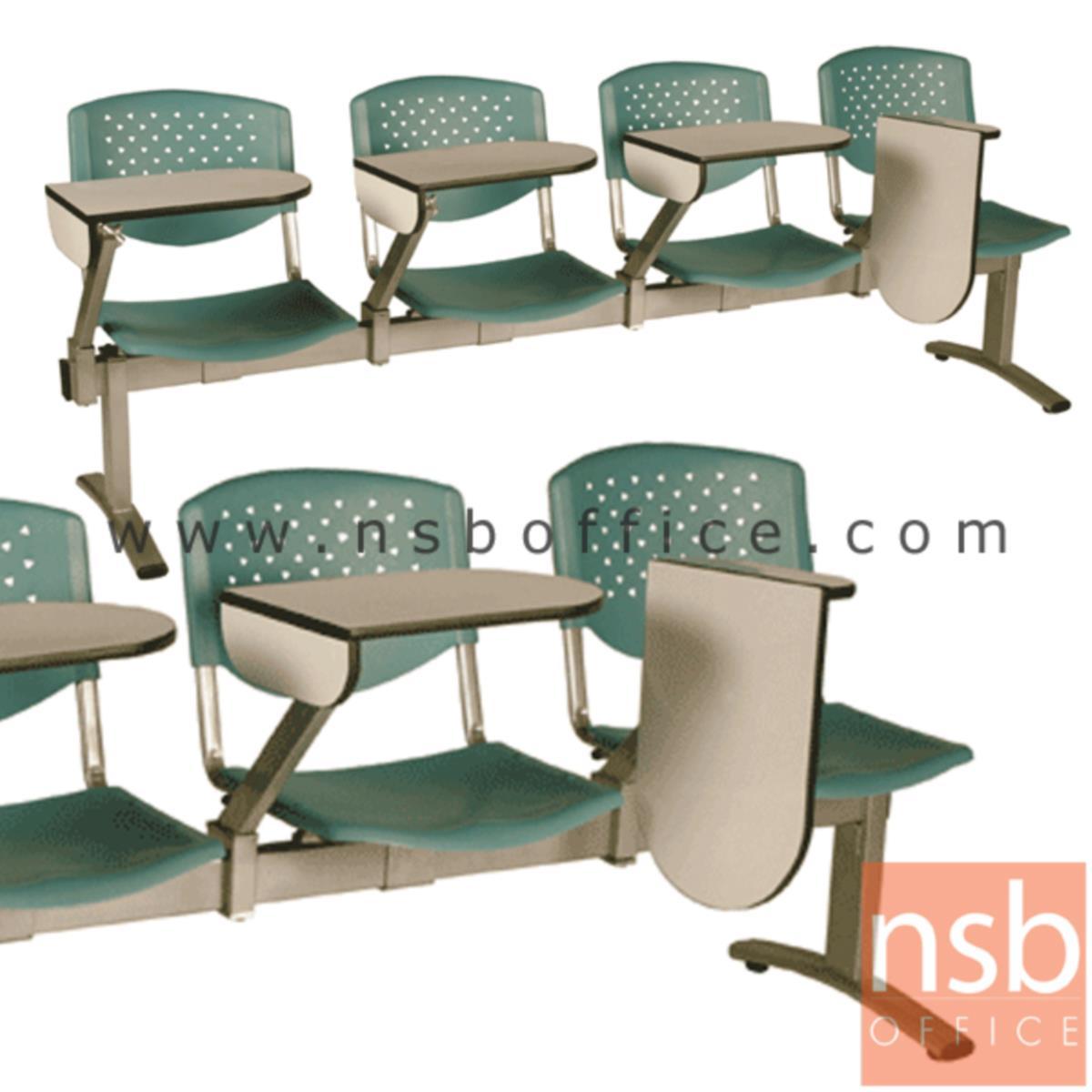 B17A020:เก้าอี้เลคเชอร์แถวเฟรมโพลี่ รุ่น D246 2 ,3 และ 4 ที่นั่ง ขาเหล็กพ่นสีเทา