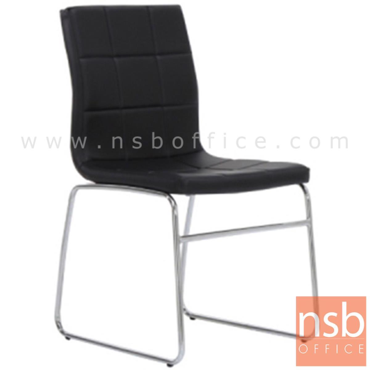 B08A053:เก้าอี้รับแขกขาตัวยู รุ่น Ginnette (กินเนต)  ขาเหล็กชุบโครเมี่ยม