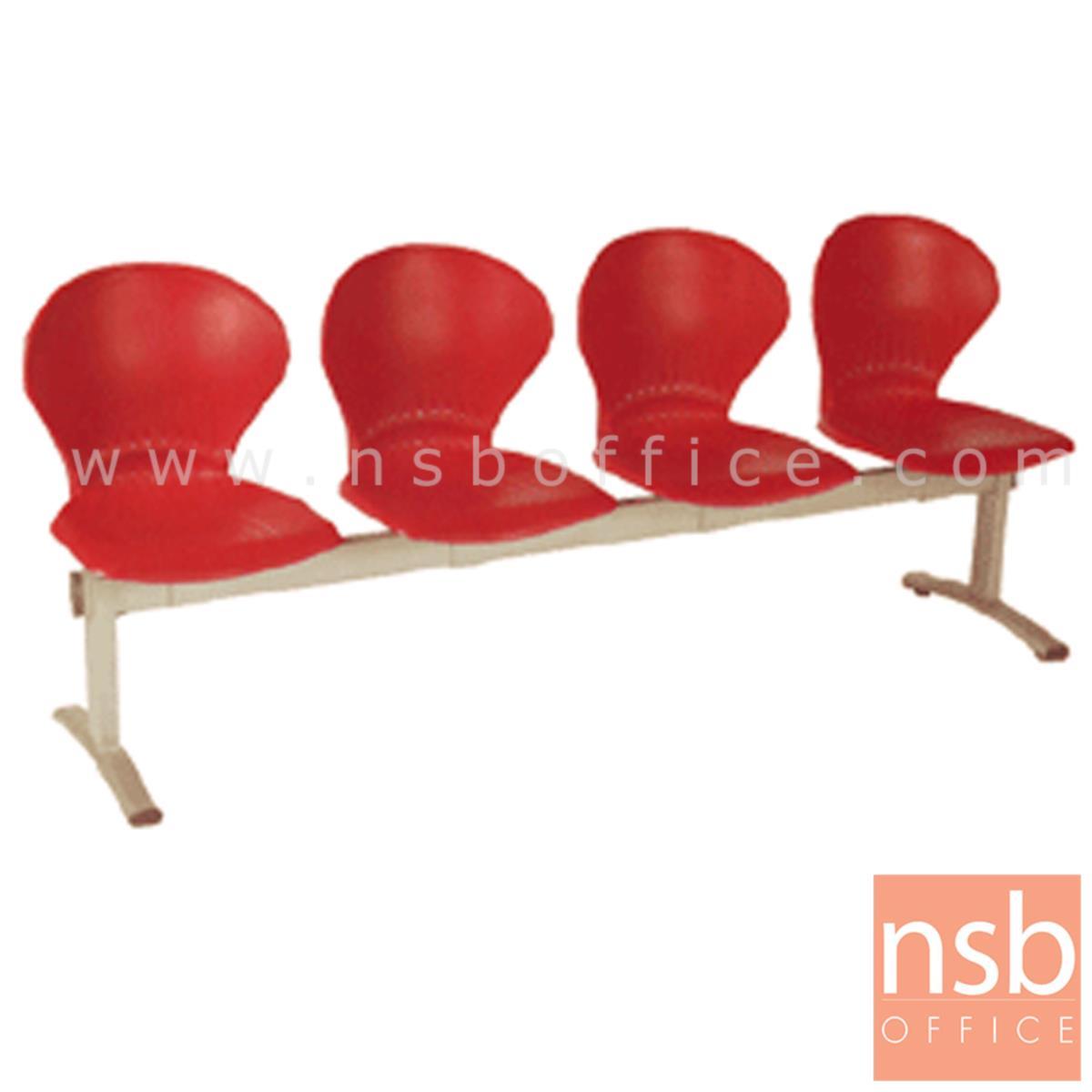 B06A058:เก้าอี้นั่งคอยเฟรมโพลี่ รุ่น B766 2 ,3 ,4 ที่นั่ง ขนาด 98W ,150W ,200W cm. ขาเหล็ก