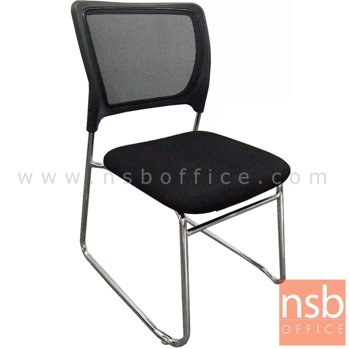 B04A179:เก้าอี้รับแขกขาตัวยู รุ่น Erhard (เออร์ฮาร์ด)  ขาเหล็กชุบโครเมี่ยม