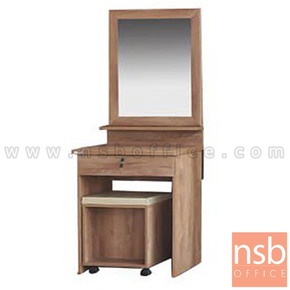 G12A277:โต๊ะเครื่องแป้งไม้ รุ่น Elleair (แอลแอร์) ขนาด 60W*160H cm. พร้อมเก้าอี้