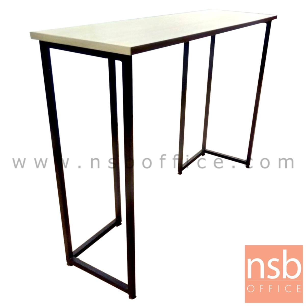 G14A110:โต๊ะบาร์หน้าเมลามีน  ขนาด 120W ,150W, 180W cm.  ขาเหล็กกล่องทำสี