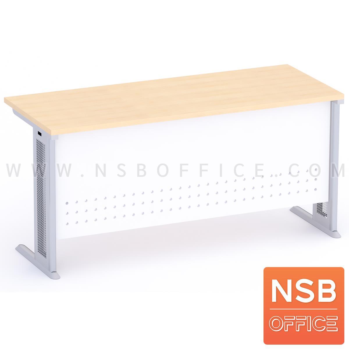 โต๊ะทำงาน หน้าตรง รุ่น Bryson (ไบรสัน)  บังตาเหล็ก ขาเหล็ก