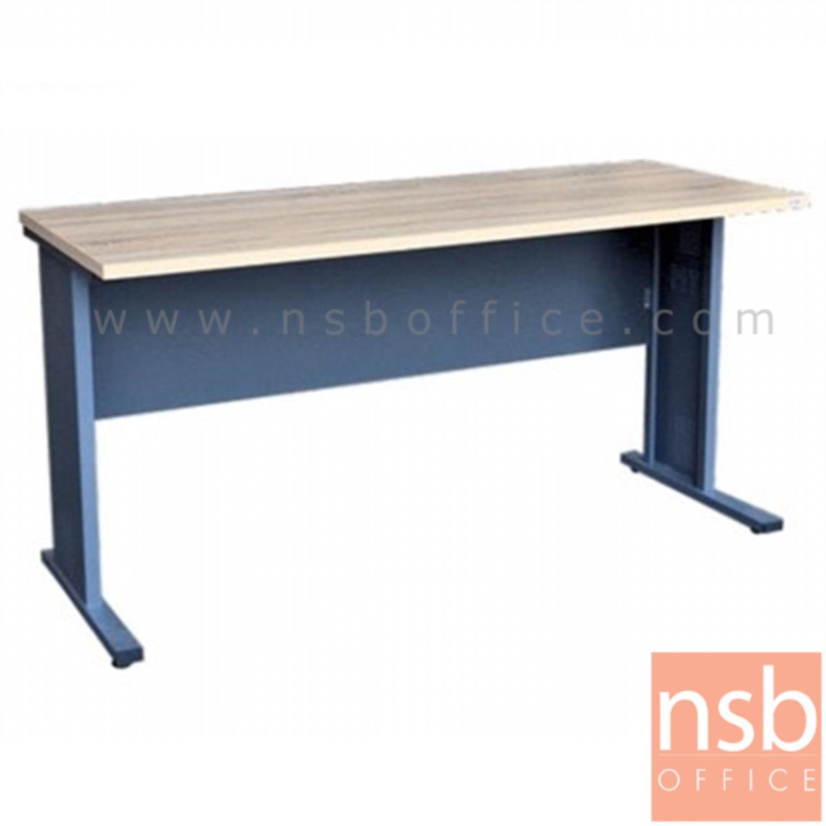A10A065:โต๊ะทำงาน  รุ่น Wrestler (เวสเลอร์) ขนาด 150W cm. ขาเหล็ก  สีโซลิคตัดเทาเข้มหรือสีมูจิตัดเทาเข้ม