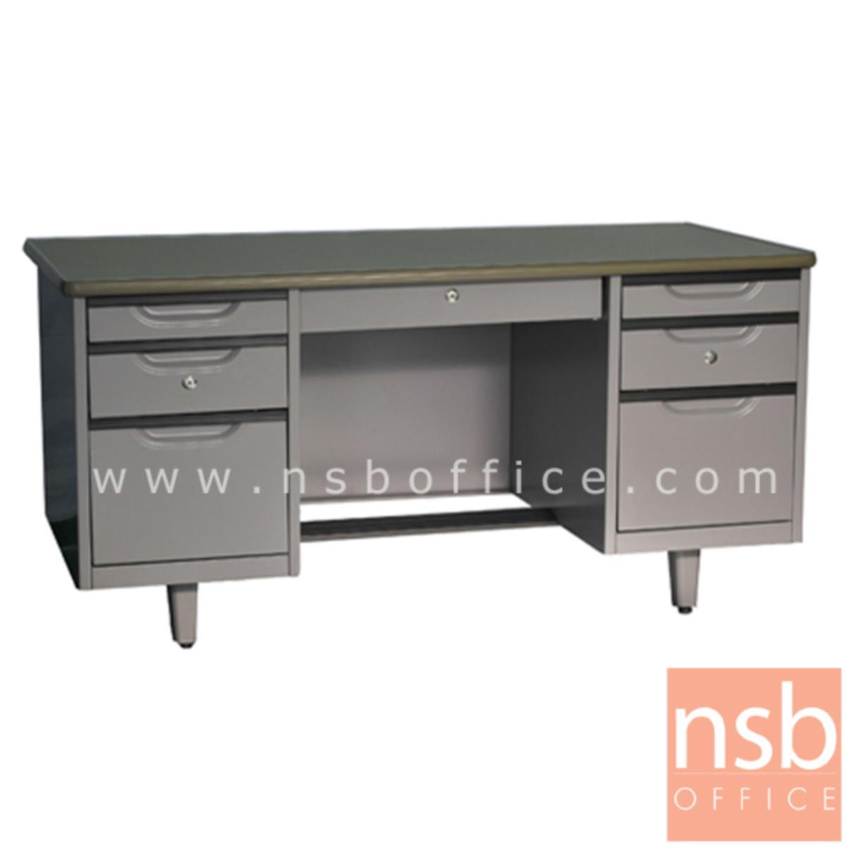 E30A018:โต๊ะทำงานเหล็ก 7 ลิ้นชัก รุ่น WDE ขนาด 4.5 ฟุต ,5 ฟุต