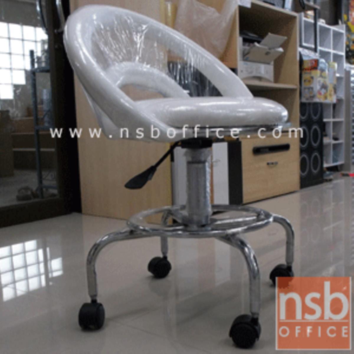 เก้าอี้บาร์สตูลที่นั่งกลมล้อเลื่อน รุ่น Rio (ริโอ้)  โช๊คแก๊ส ขาเหล็กชุบโครเมี่ยม