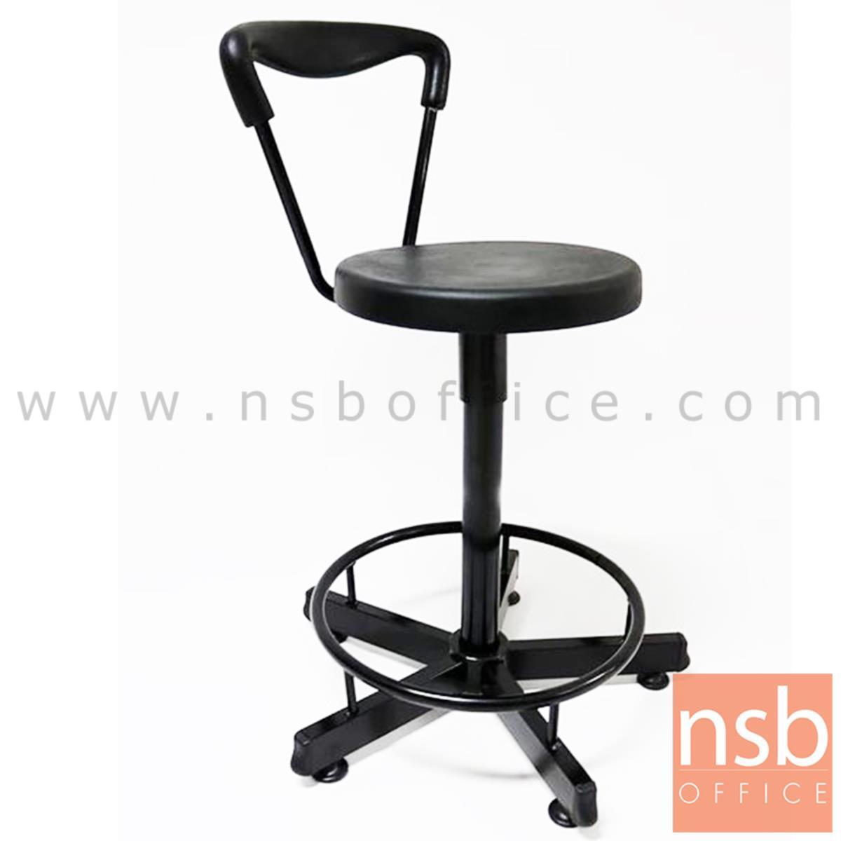 B09A067:เก้าอี้บาร์สตูลที่นั่งกลม รุ่น Rutherford (รัทเทอร์ฟอร์ด)  ขาเหล็กกล่อง