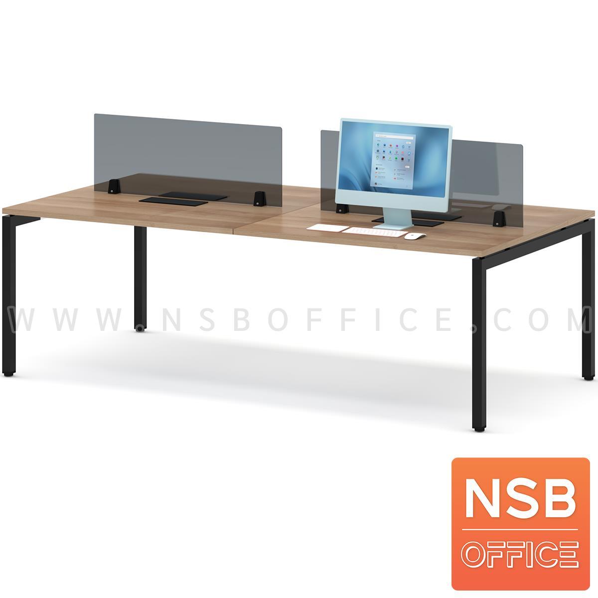 A04A140:ชุดโต๊ะทำงานกลุ่ม รุ่น Smart  พร้อมมินิสกรีนและกล่องไฟ A24A034-2 ทุกที่นั่ง