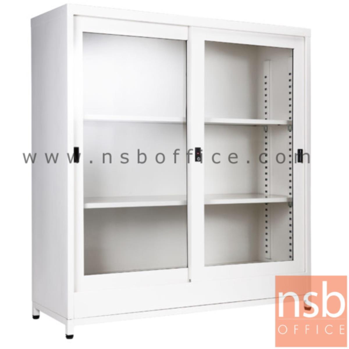 ตู้บานเลื่อนกระจก 4 ฟุต สูงพิเศษ 122H cm (พร้อมฐานรองแบบขาลอย)  SGD-120