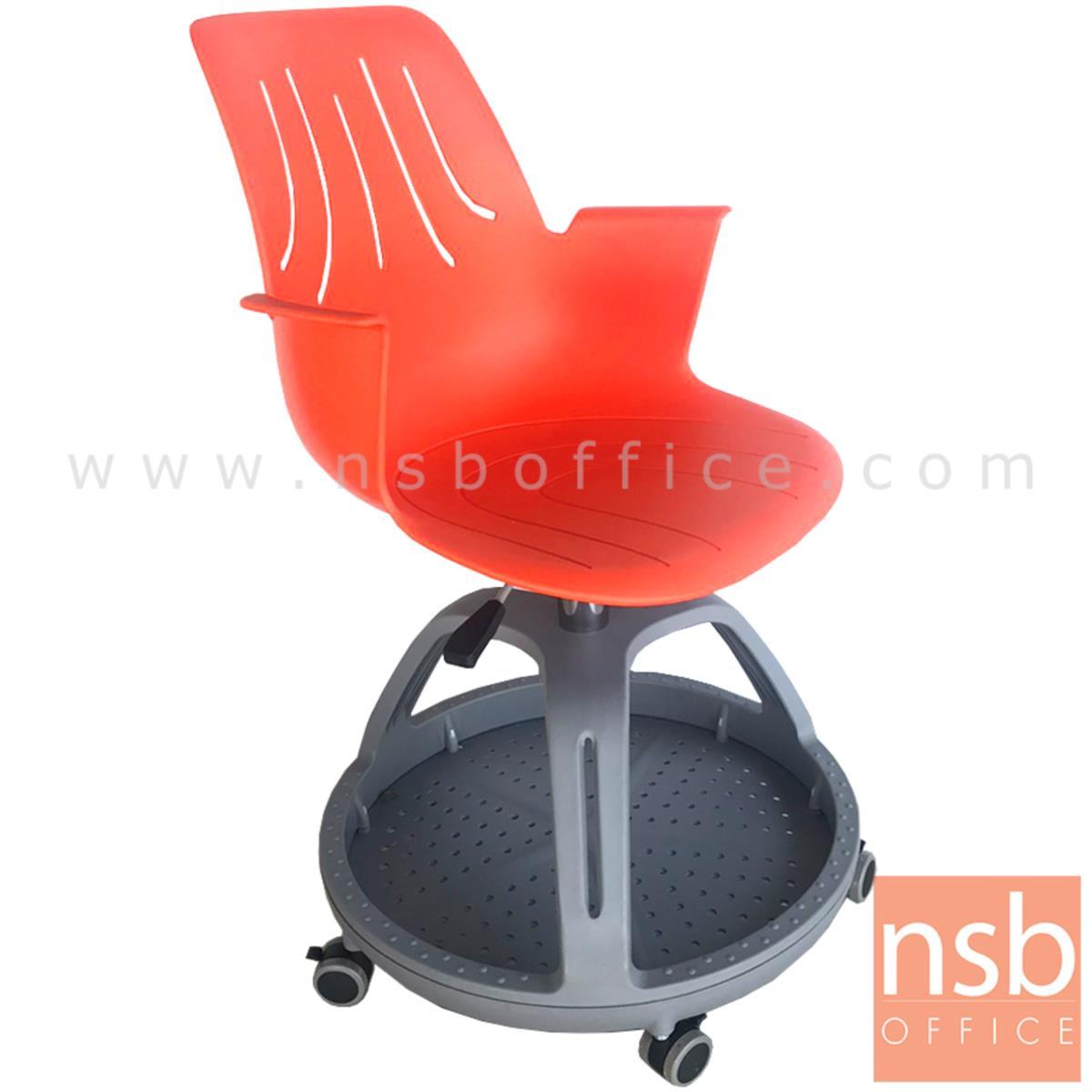 เก้าอี้เฟรมโพลี่ล้อเลื่อน รุ่น Barnaby (บาร์นาบี้)  ไม่มีแผ่นเลคเชอร์ ฐานกลมวางกระเป๋าได้