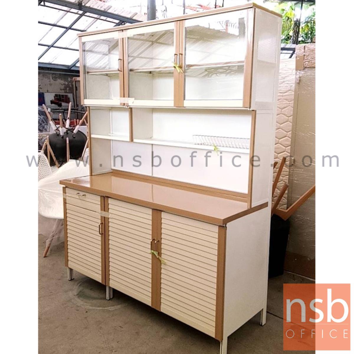 ตู้ครัวบานเกล็ด 3 บานเปิดสูง รุ่น AL151 ขนาด 150W*54D*190H cm.