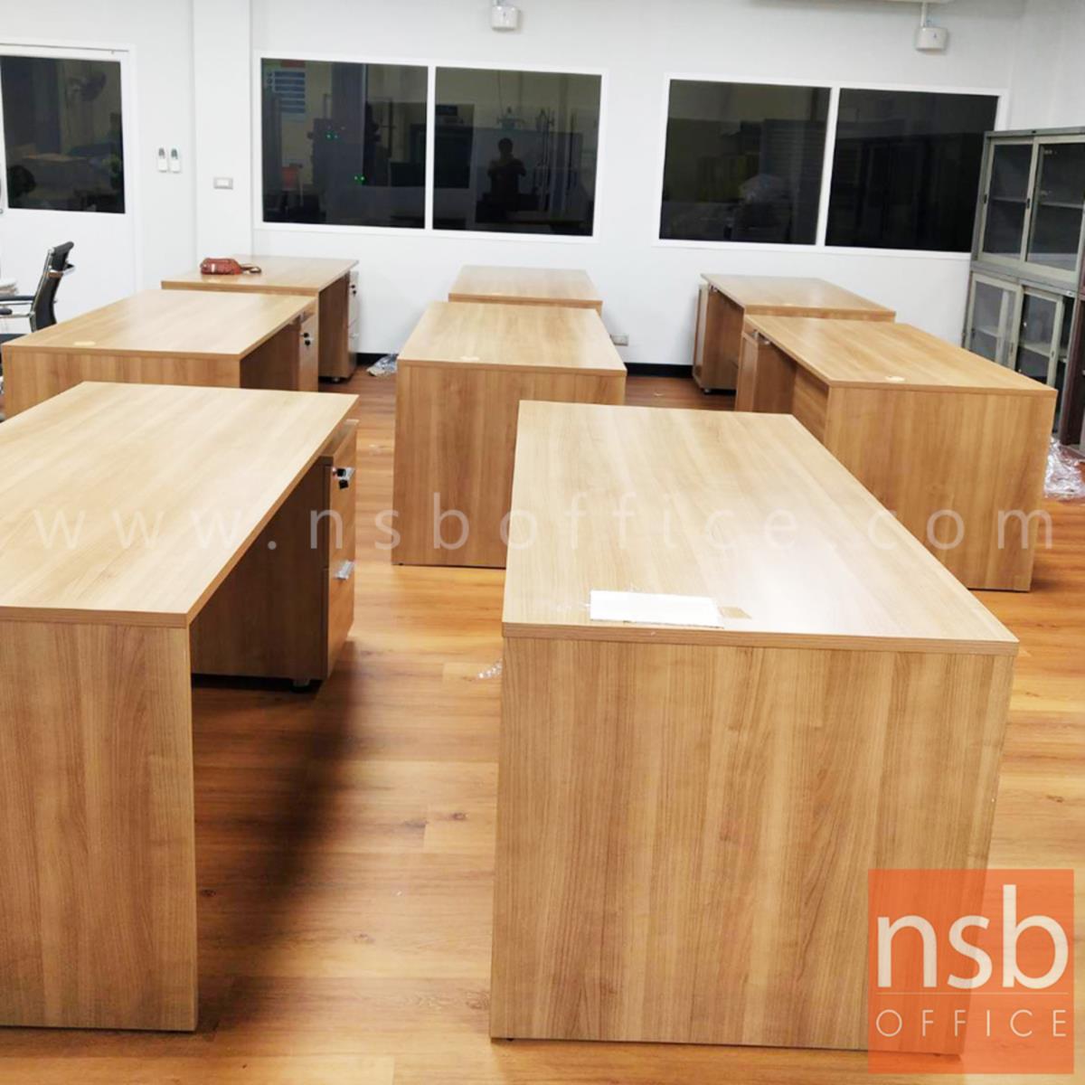 โต๊ะทำงาน 2 ลิ้นชัก รุ่น MN-YW180 ขนาด 160W cm. เมลามีน