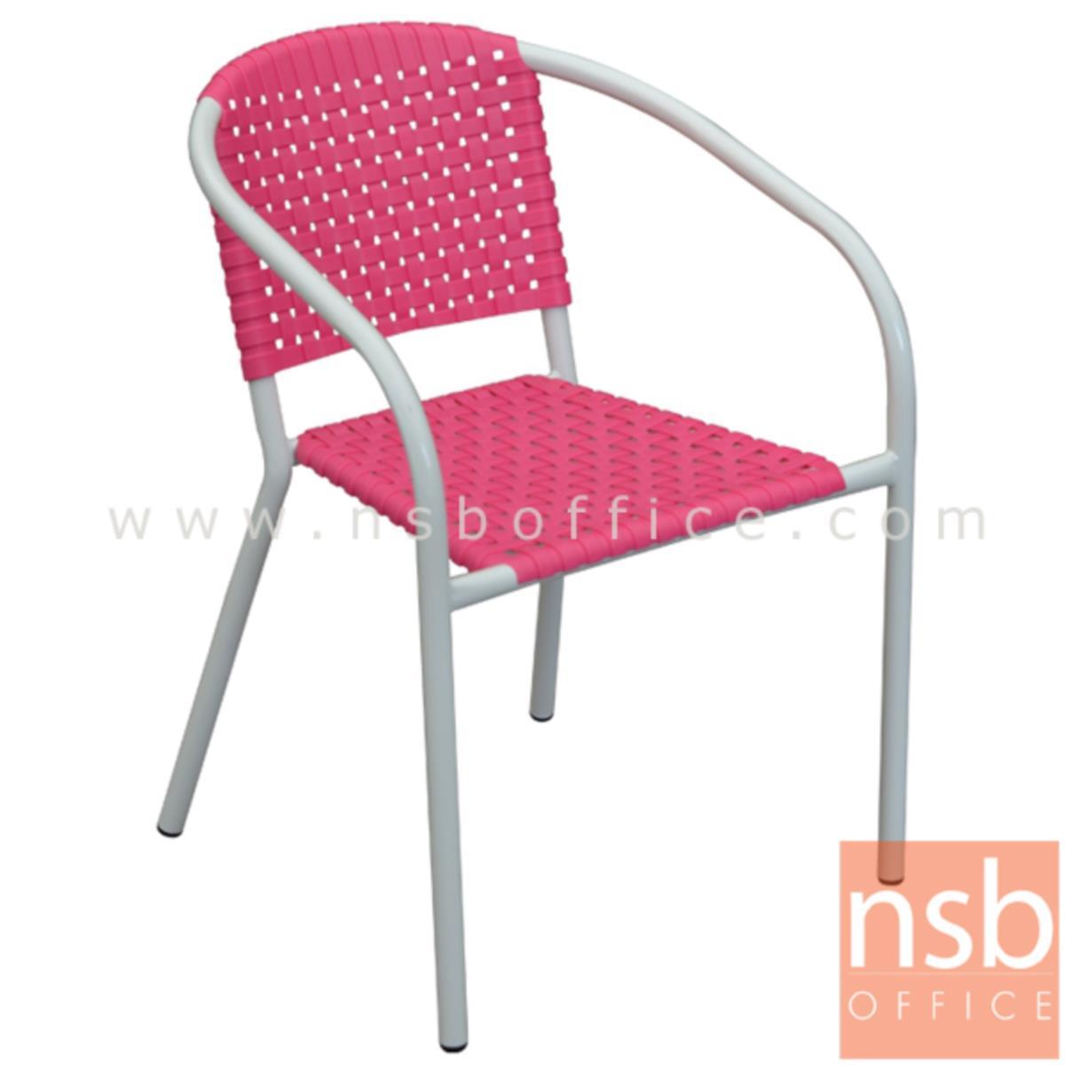 B05A162:เก้าอี้อเนกประสงค์พลาสติก รุ่น Prentice (เพรนทิส)  โครงขาเหล็กพ่นเงา