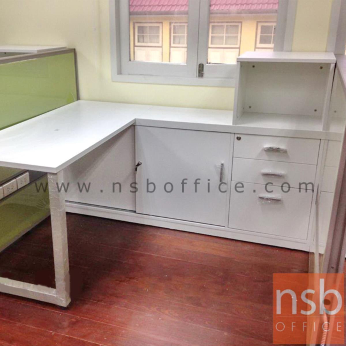 โต๊ะทำงานตัวแอล รุ่น Pixies (พิกซี่ส์) ขนาด 140W1*170W2 cm. พร้อมตู้ข้าง