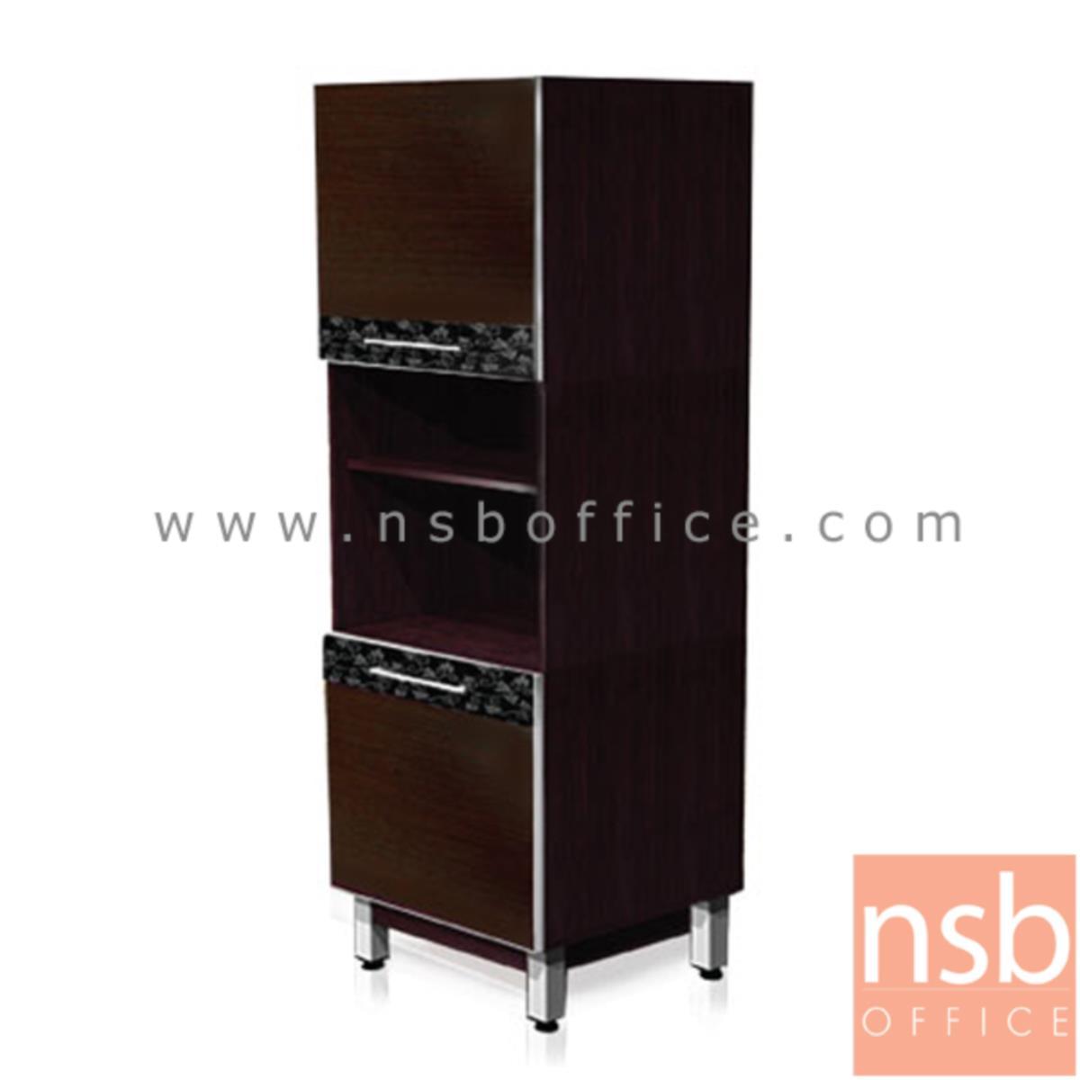 K03A031:ตู้ครัวสูง 2 บานเปิด บน-ล่าง 2 ช่องโล่ง  รุ่น Balmain (บัลแมง)