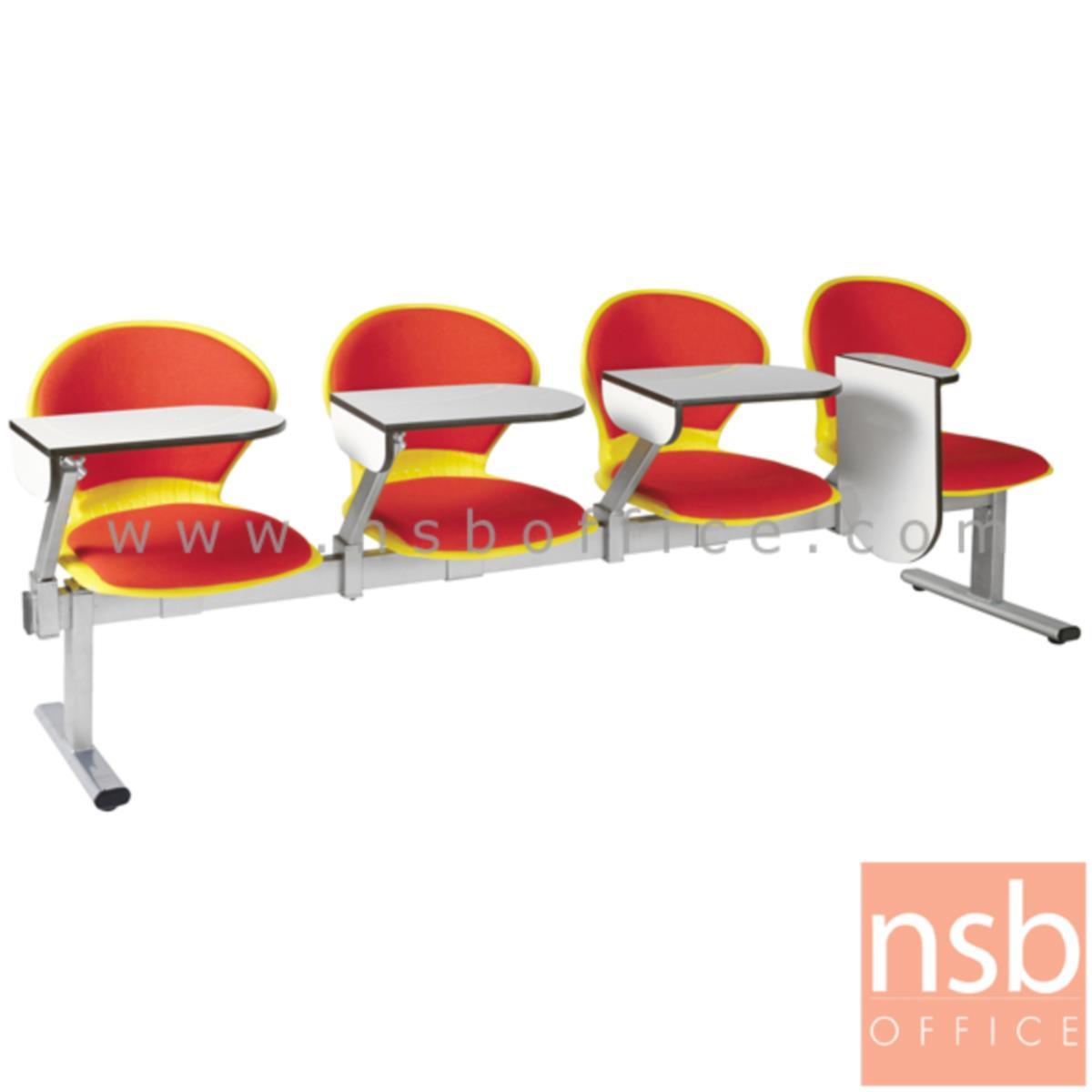เก้าอี้เลคเชอร์แถวเฟรมโพลี่หุ้มเบาะ รุ่น D576 2 ,3 และ 4 ที่นั่ง ขาเหล็กพ่นสีเทา
