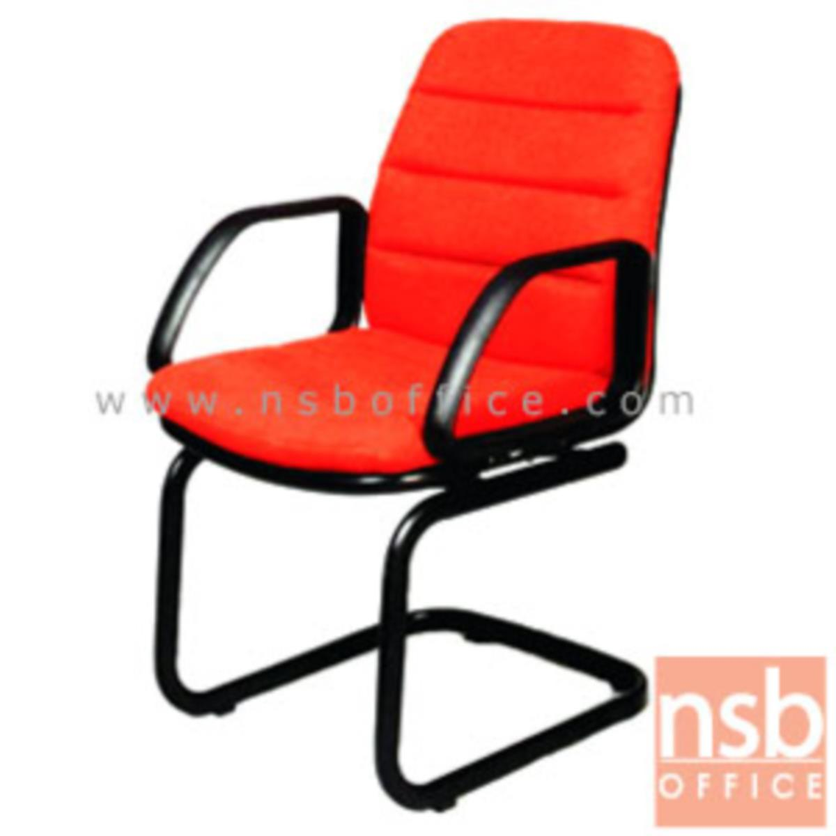 เก้าอี้รับแขกขาตัวซี รุ่น CH-25798  ขาเหล็กพ่นดำ