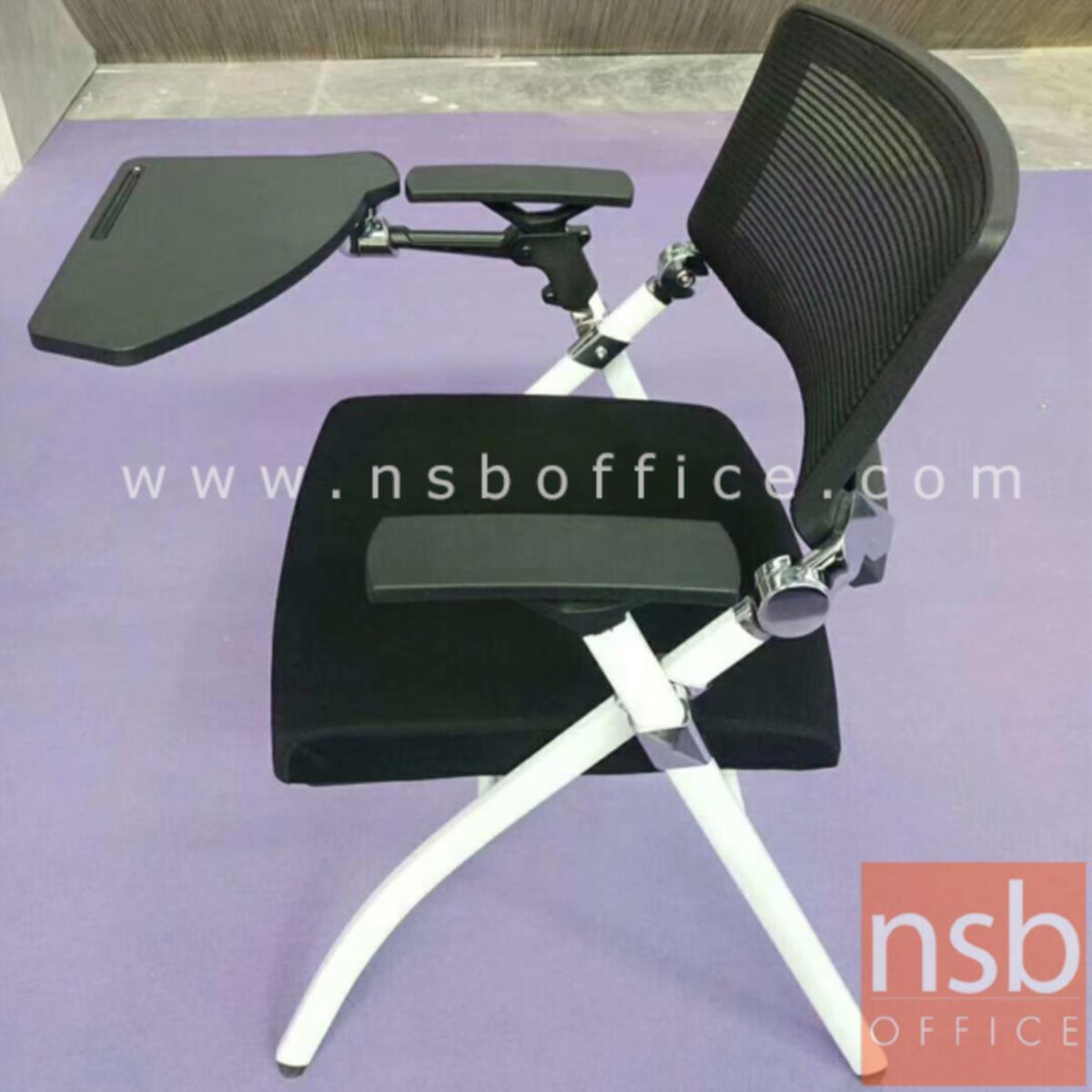 เก้าอี้เลคเชอร์หลังเน็ต  รุ่น Lesley (เลสลี) ขาเหล็กพ่นสีขาว