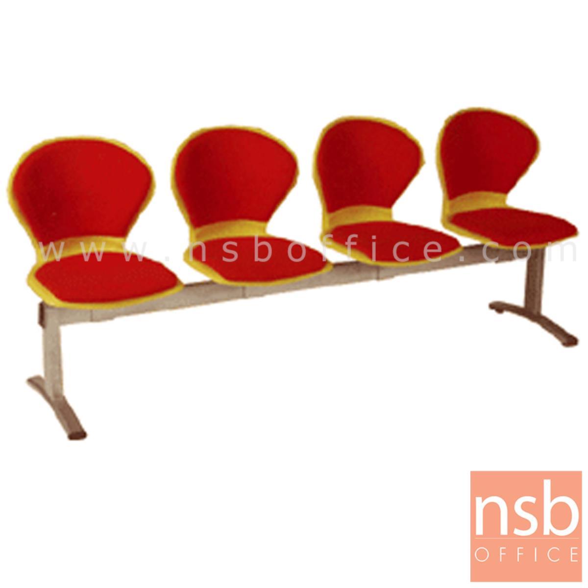 B06A057:เก้าอี้นั่งคอยเฟรมโพลี่หุ้มเบาะ รุ่น B376 2 ,3 ,4 ที่นั่ง ขนาด 98W ,152.5W ,207W cm. ขาเหล็ก