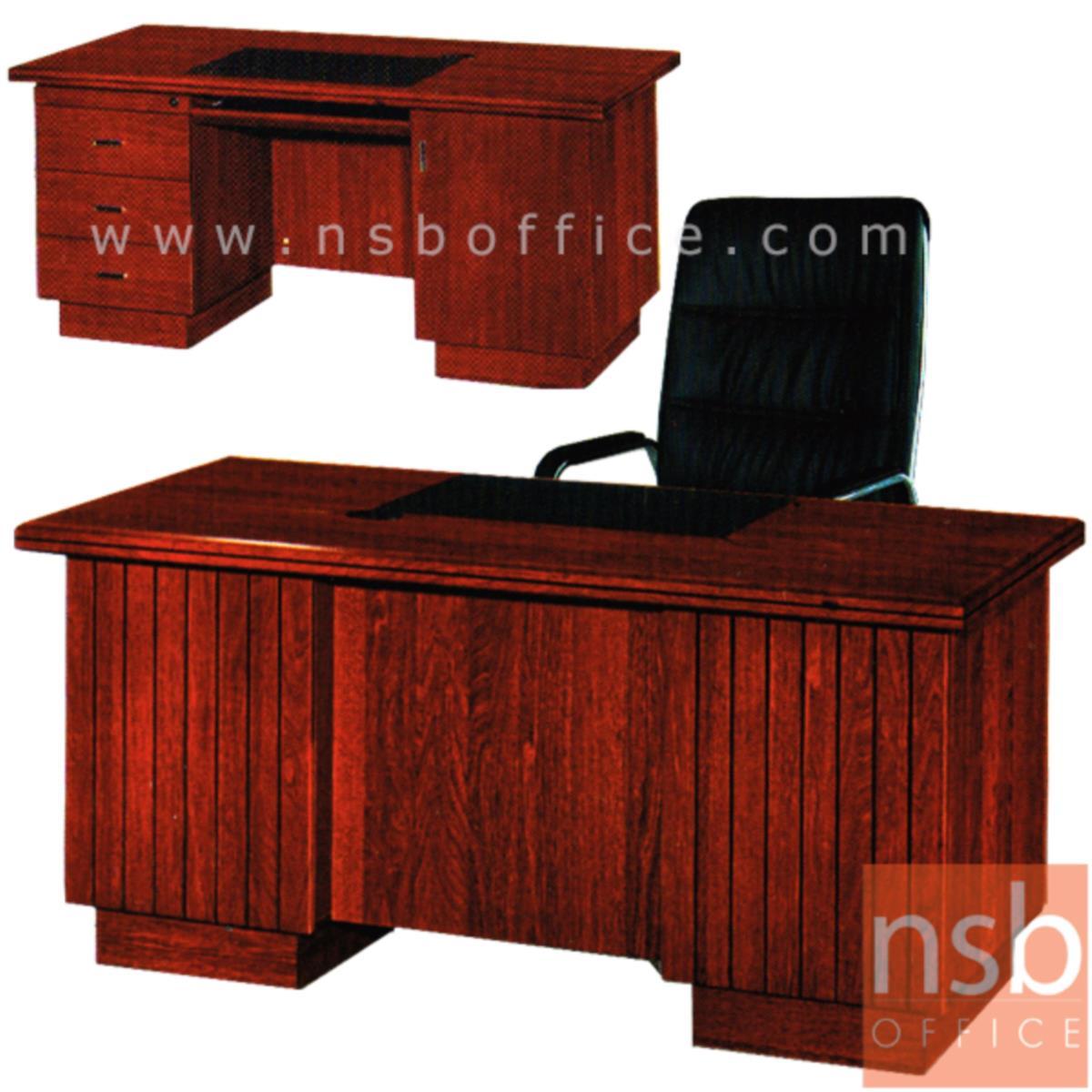 A06A115:โต๊ะผู้บริหารทรงตรง 3 ลิ้นชัก รุ่น Liberty (ลิเบอร์ตี้) ขนาด 160W cm. พร้อมรางคีย์บอร์ด