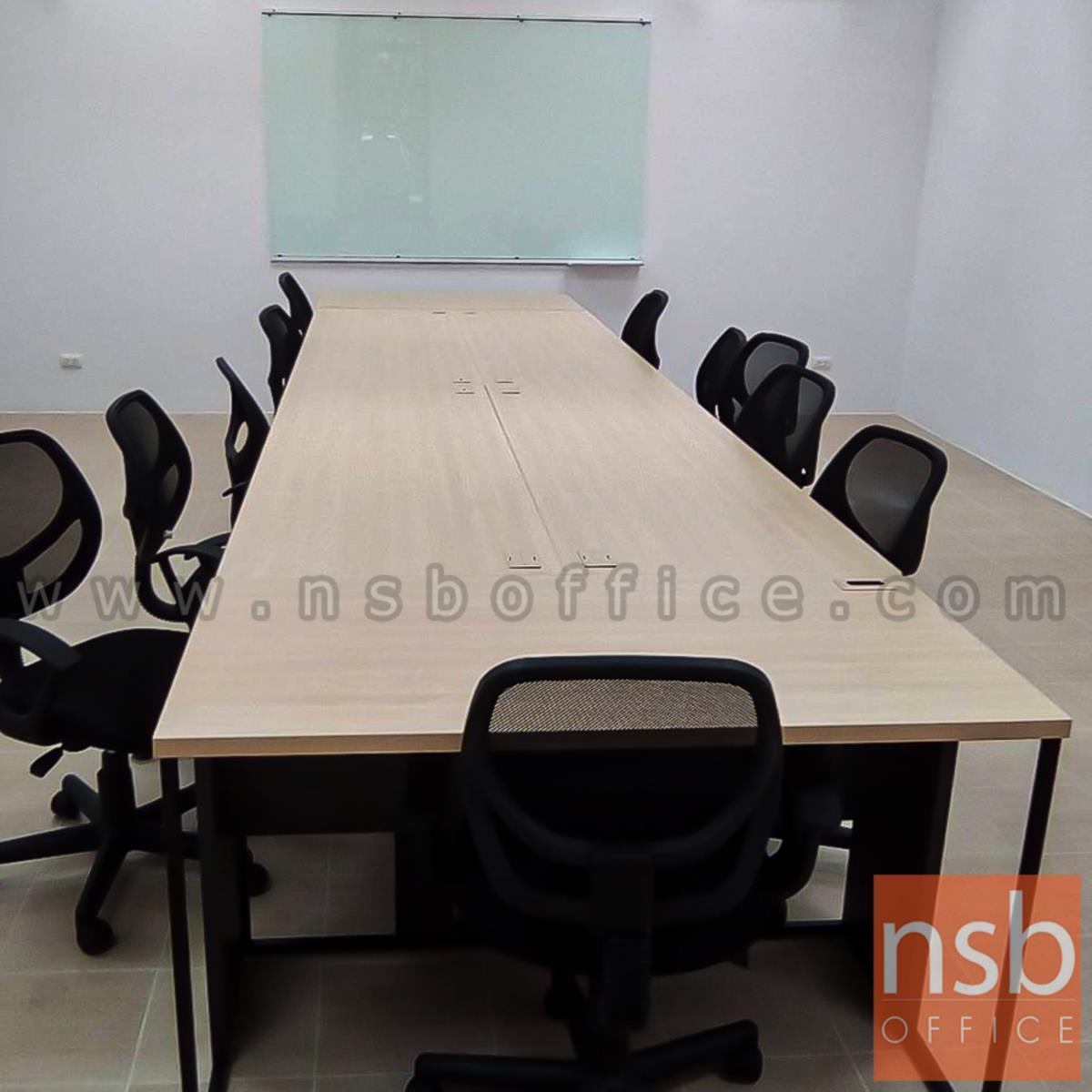 โต๊ะทำงานโล่ง  ขนาด 120W ,135W ,150W ,160W ,180W cm.  ขาเหล็กกล่อง