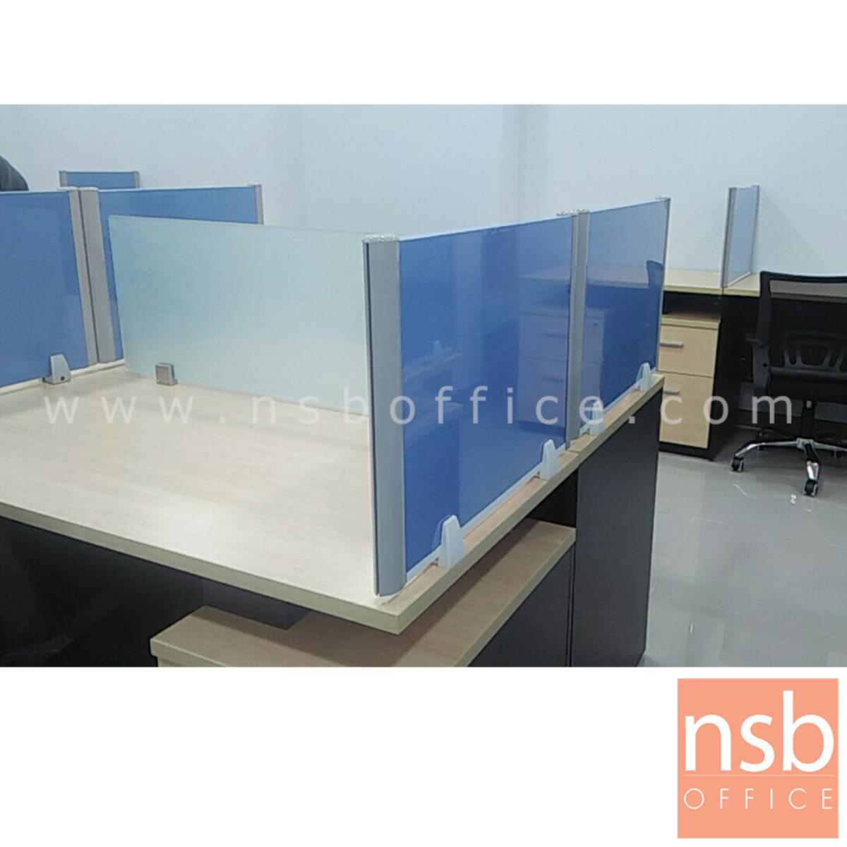 มินิสกรีนหุ้มผ้า เฟรมอลูมินั่ม (พร้อมตัวจับสีขาว แบบเจาะหน้าโต๊ะ)  80W - 180W cm