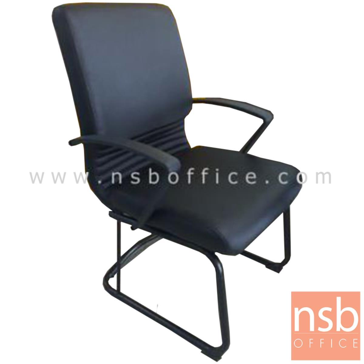 B04A154:เก้าอี้รับแขกขาตัวซี รุ่น Parrish (พาร์ริช)  ขาเหล็กพ่นดำ