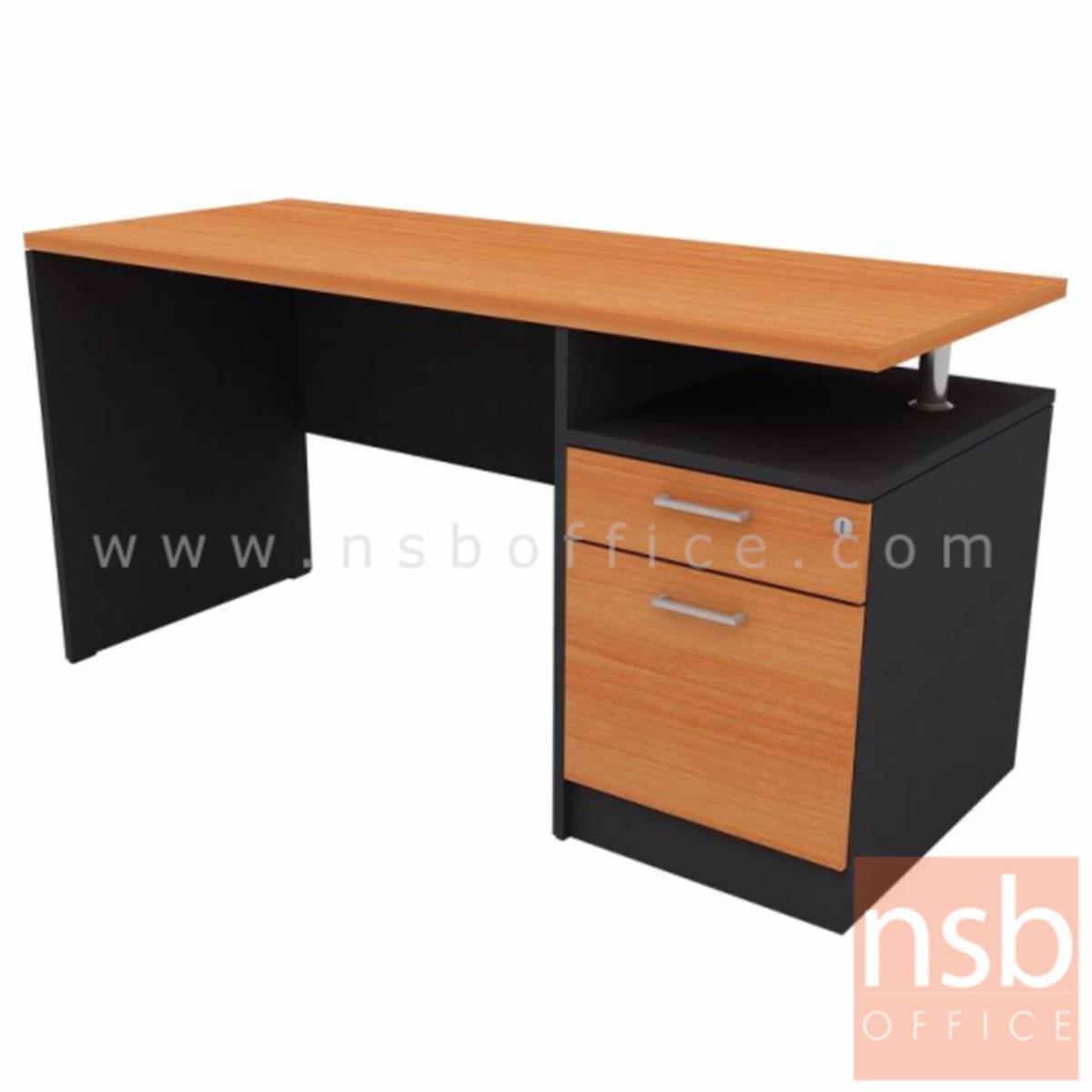 โต๊ะทำงาน 2 ลิ้นชัก รุ่น PS-006 ขนาด 150W cm. เมลามีน