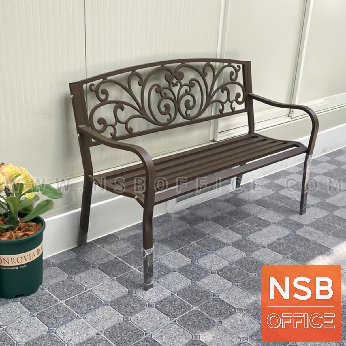 เก้าอี้สนามเหล็ก รุ่น Pine (พาย)  พนักพิงลายดอกไม้