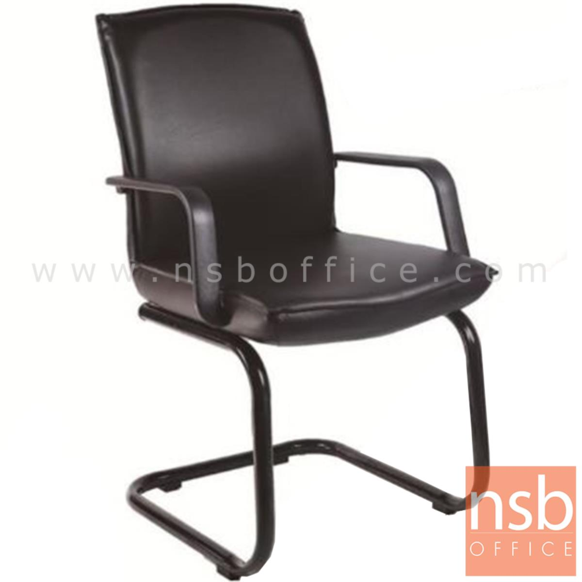 B04A183:เก้าอี้รับแขกขาตัวซี รุ่น Allamanda (แอลลาแมนด้า)  ขาเหล็กพ่นดำ