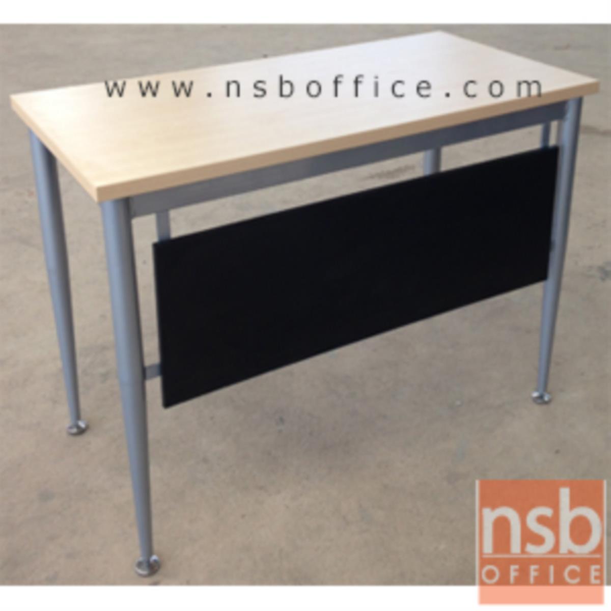 โต๊ะทำงาน บังโป๊ดำ รุ่น FPF-18 ขนาด 120W ,150W ,180W cm. ขาเหล็กพ่นบอร์นเงิน