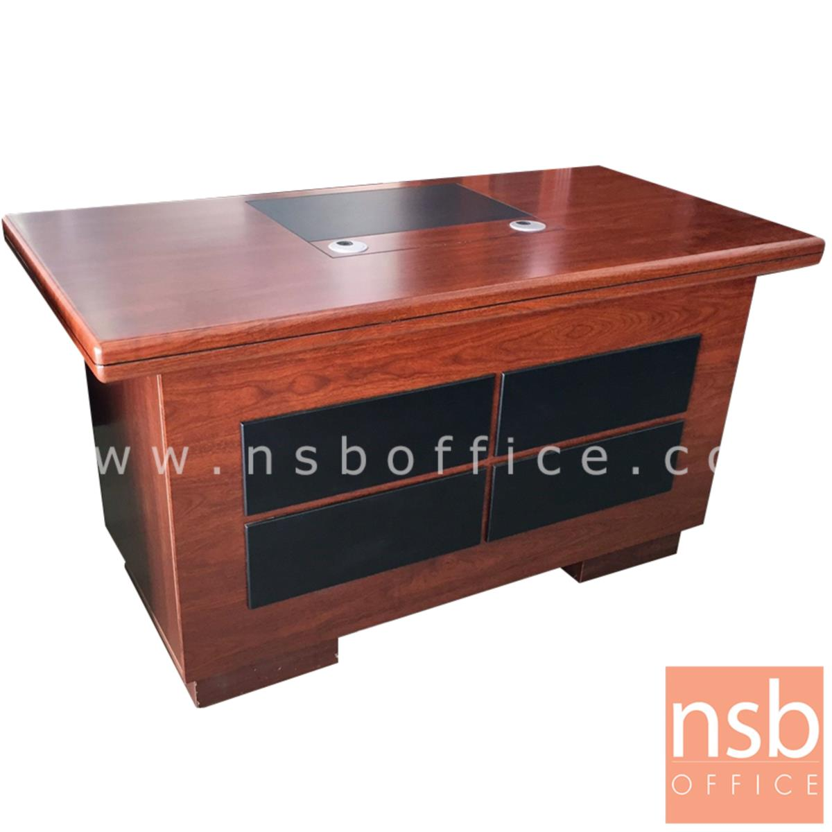 A06A124:โต๊ะผู้บริหารทรงตรง 3ลิ้นชัก 1 บานเปิด มีคีย์บอร์ด  รุ่น Pantera (แพนเทอรา) ขนาด 140W ,160W cm. พร้อมกุญแจล็อค