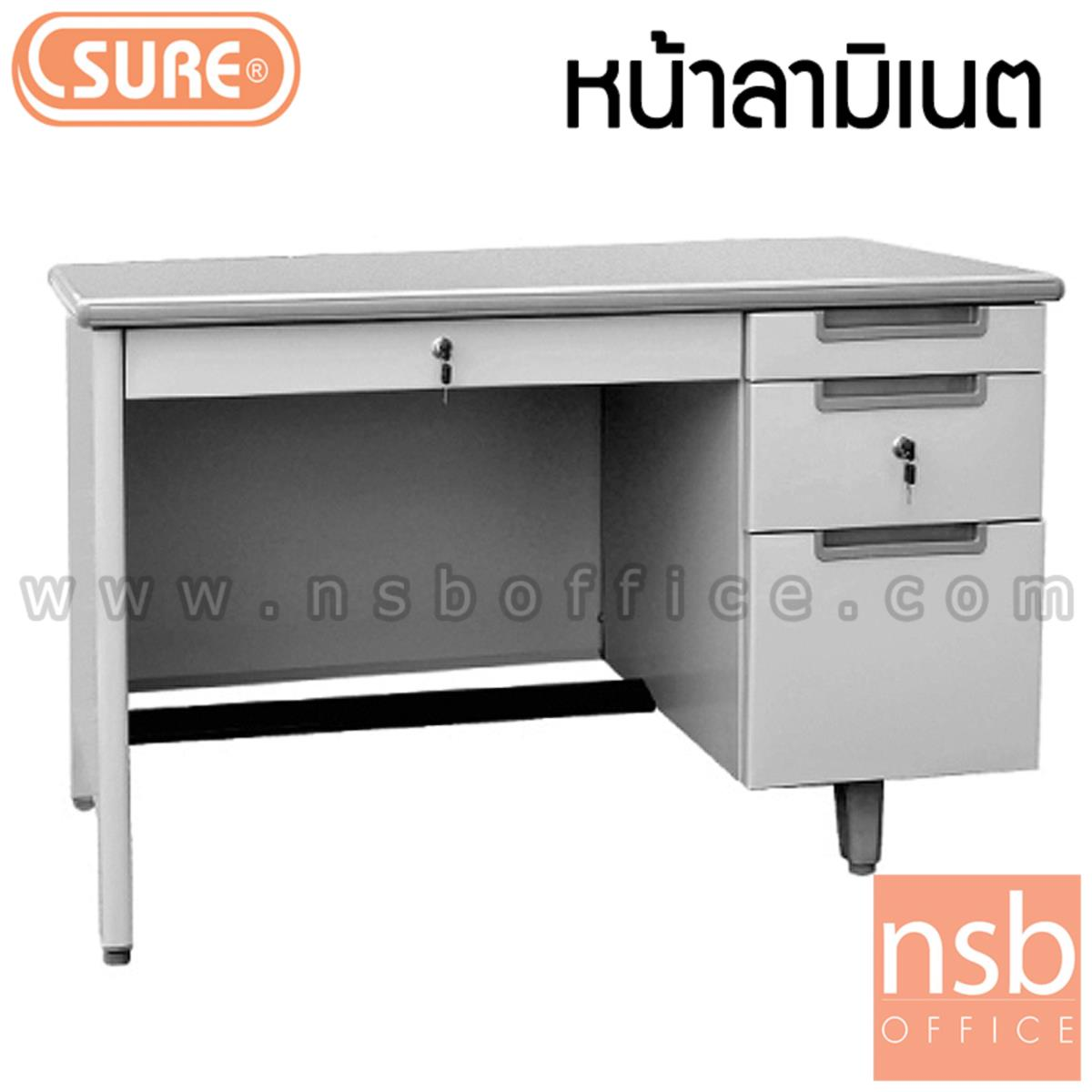 E04A002:โต๊ะทำงานเหล็ก หน้าลามิเนต 4 ลิ้นชัก (ขนาด 3.5 และ 4 ฟุต) รุ่น MT-2642,MT-2648
