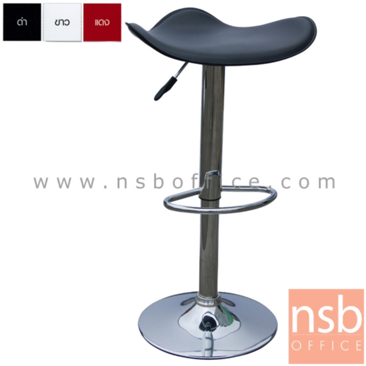B18A025:เก้าอี้บาร์สูงหนังเทียม รุ่น BH-741-SMART ขนาด 46W cm. โช๊คแก๊ส ขาโครเมี่ยมฐานจานกลม