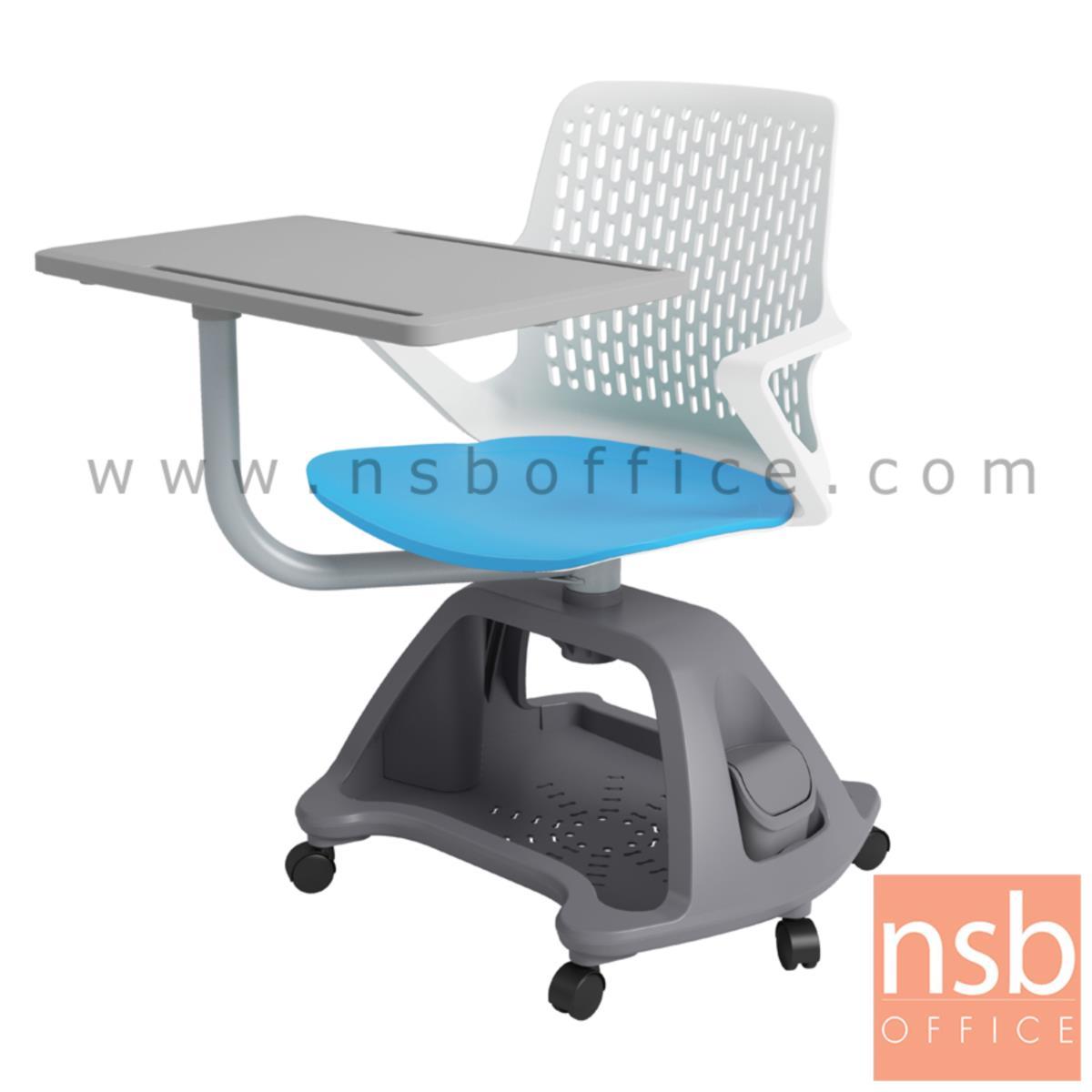 B30A052:เก้าอี้เลคเชอร์เฟรมโพลี่ล้อเลื่อน รุ่น aloe (แอลโล) วางกระเป๋าได้