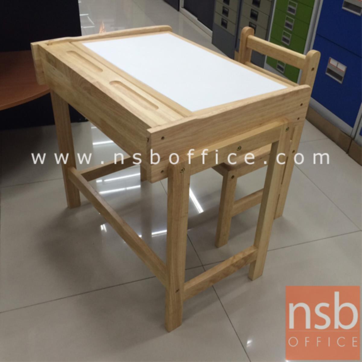 A35A008:ชุดโต๊ะและเก้าอี้นักเรียน   สำหรับเด็ก ขาไม้