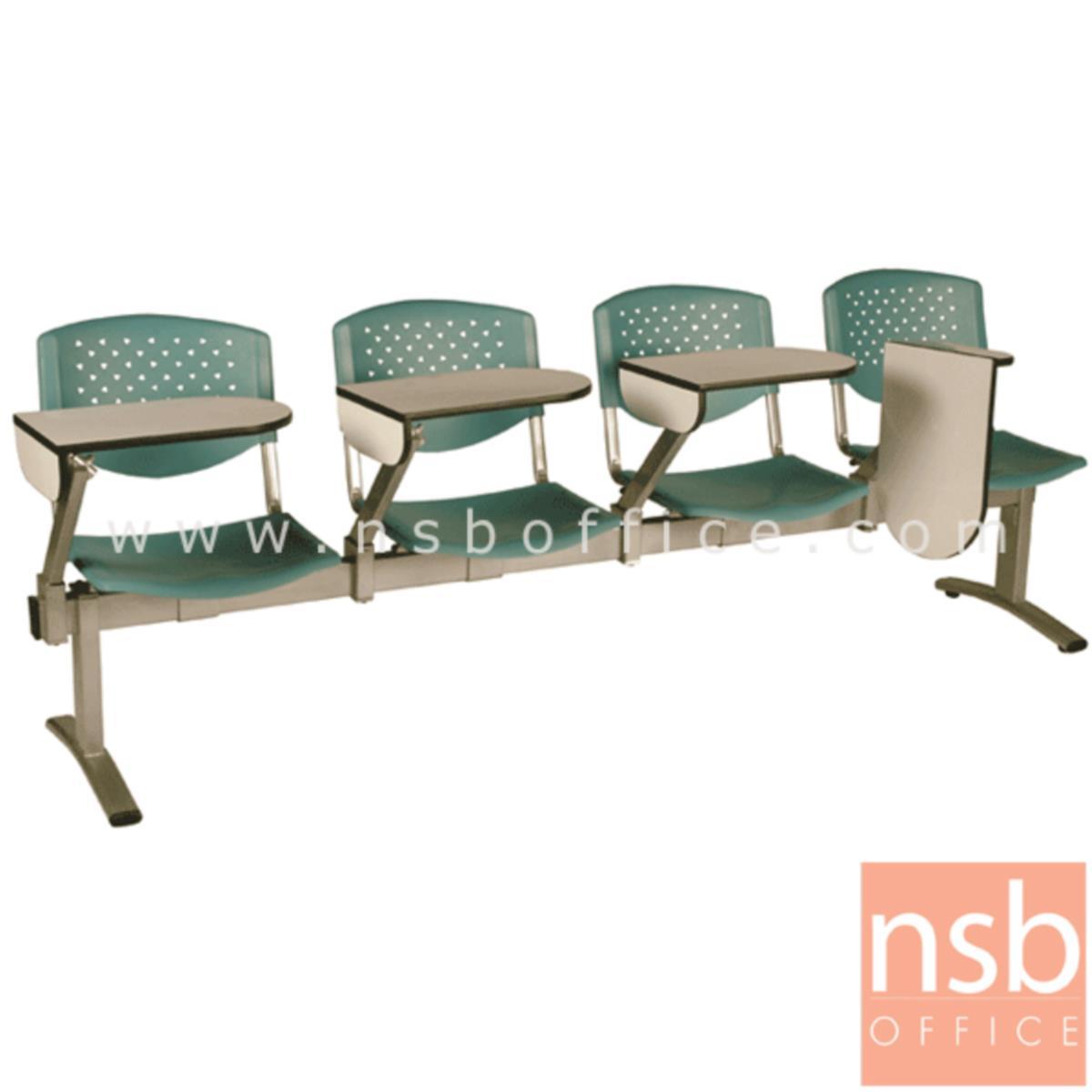 เก้าอี้เลคเชอร์แถวเฟรมโพลี่ รุ่น D246 2 ,3 และ 4 ที่นั่ง ขาเหล็กพ่นสีเทา