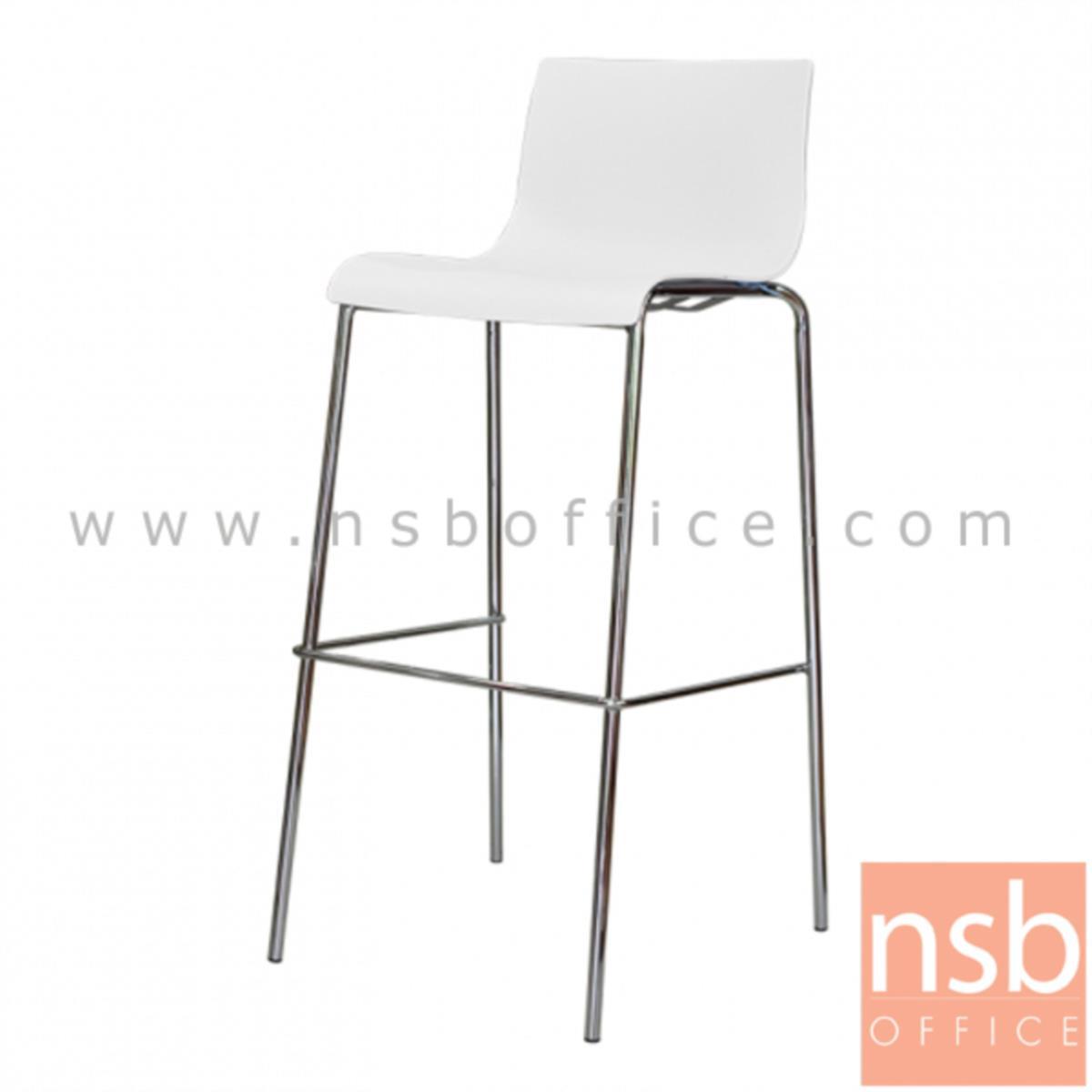เก้าอี้บาร์สูงโพลี่(PP) รุ่น NP-9200 ขนาด 39W cm. ขาเหล็กชุบโครเมี่ยม