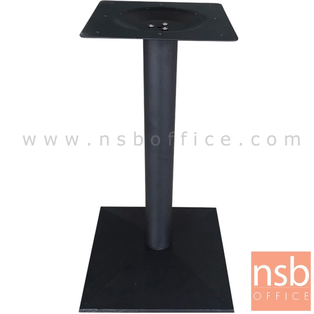J02A005:ขาโต๊ะบาร์ทรงสี่เหลี่ยมปิรามิด สีดำ รุ่น PIRAMID