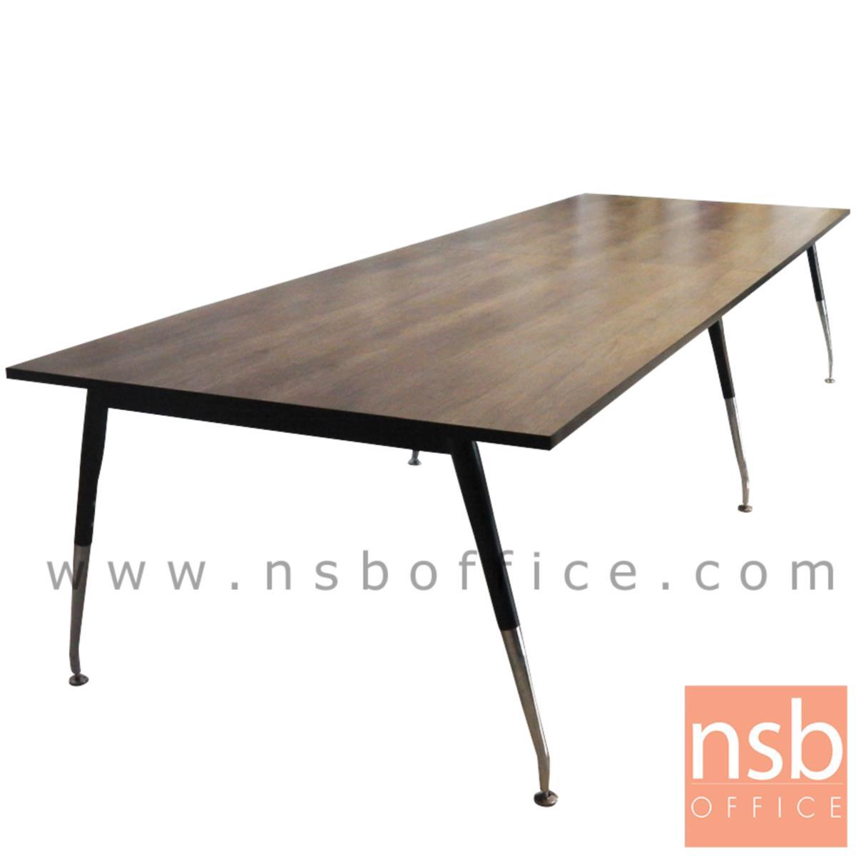 A05A089:โต๊ะประชุมทรงสี่เหลี่ยมยาว  300W-460W (120D, 150D) cm.  ขาเหล็กปลายเรียว