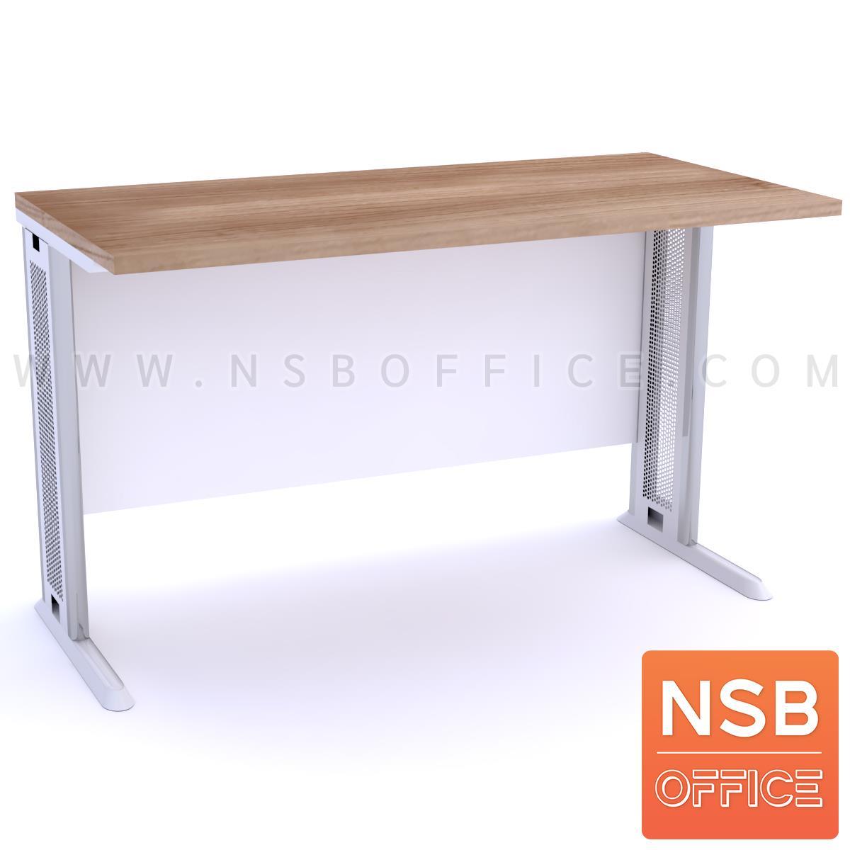 โต๊ะทำงาน บังโป๊ไม้  ขนาด 80W-180W (60D, 75D, 80D) cm. ขาเหล็กตัวแอล